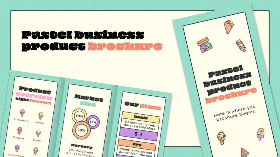 Pastell Business Produkt Broschüre Präsentationsvorlage