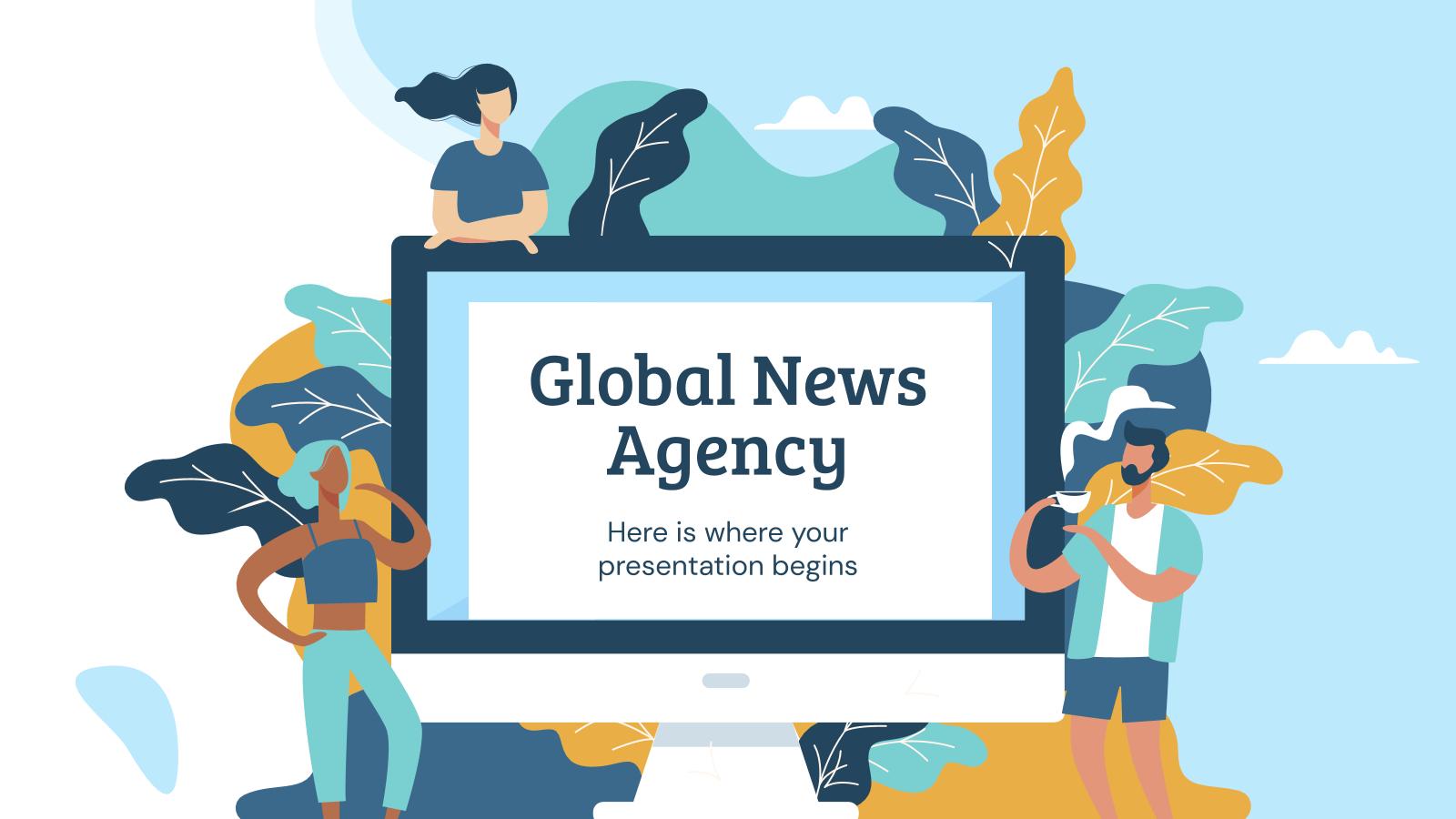 Modelo de apresentação Agência de notícias internacionais