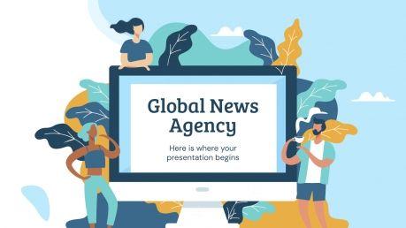 Plantilla de presentación Agencia internacional de noticias