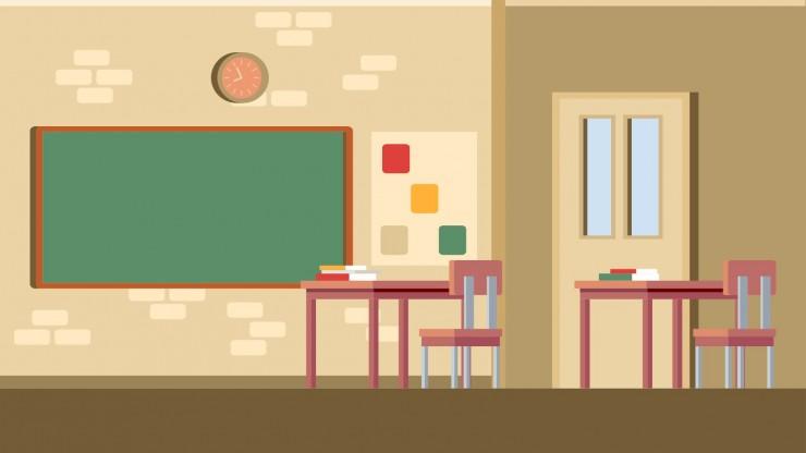 Schulhintergründe für das virtuelle Klassenzimmer Präsentationsvorlage