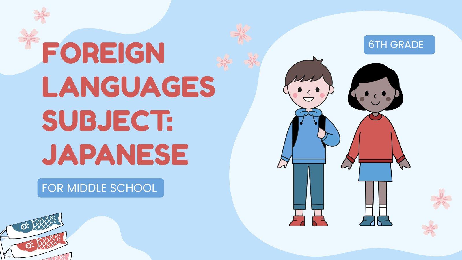 Fremdsprache für die Grundschule: Japanisch Präsentationsvorlage