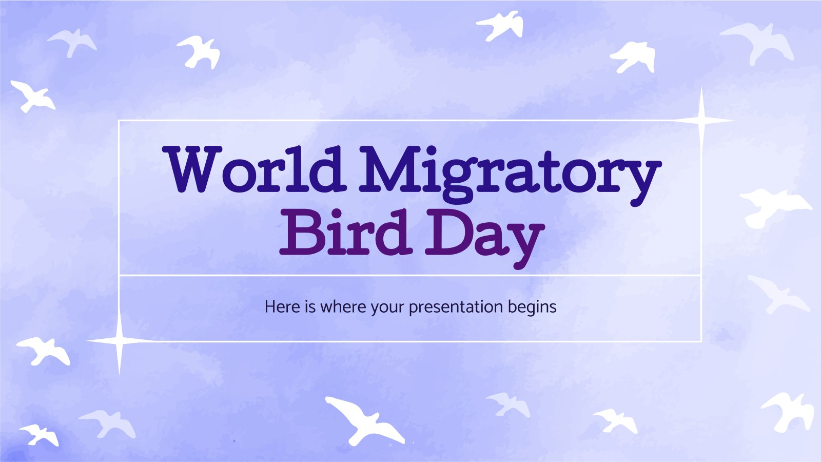 World Migratory Bird Day presentation template