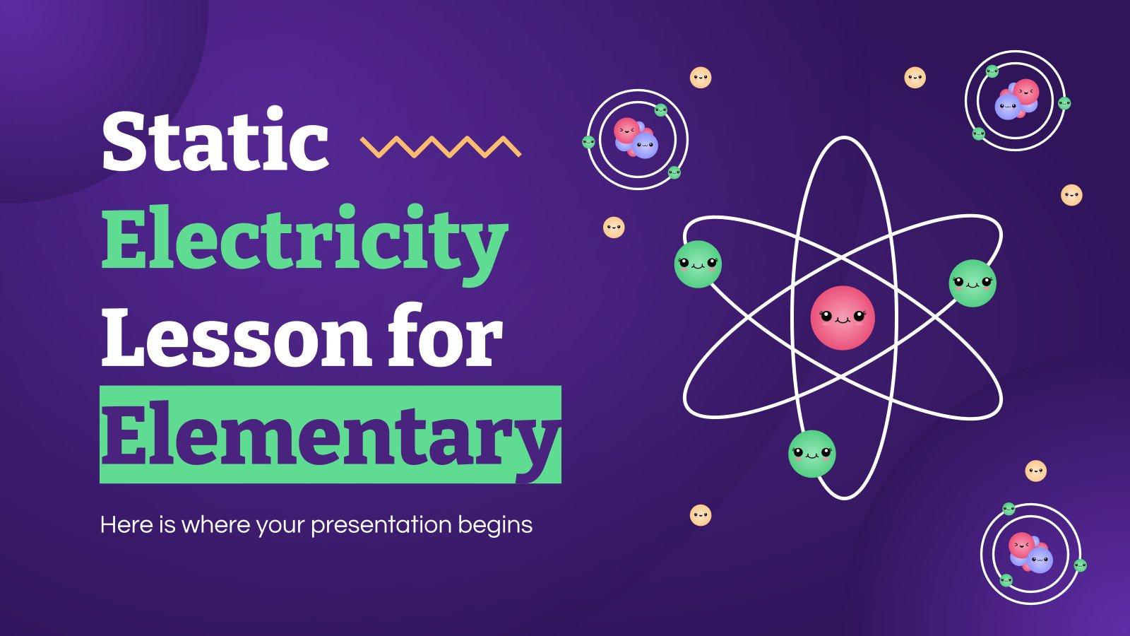 Statische Elektrizität für Grundschüler Präsentationsvorlage
