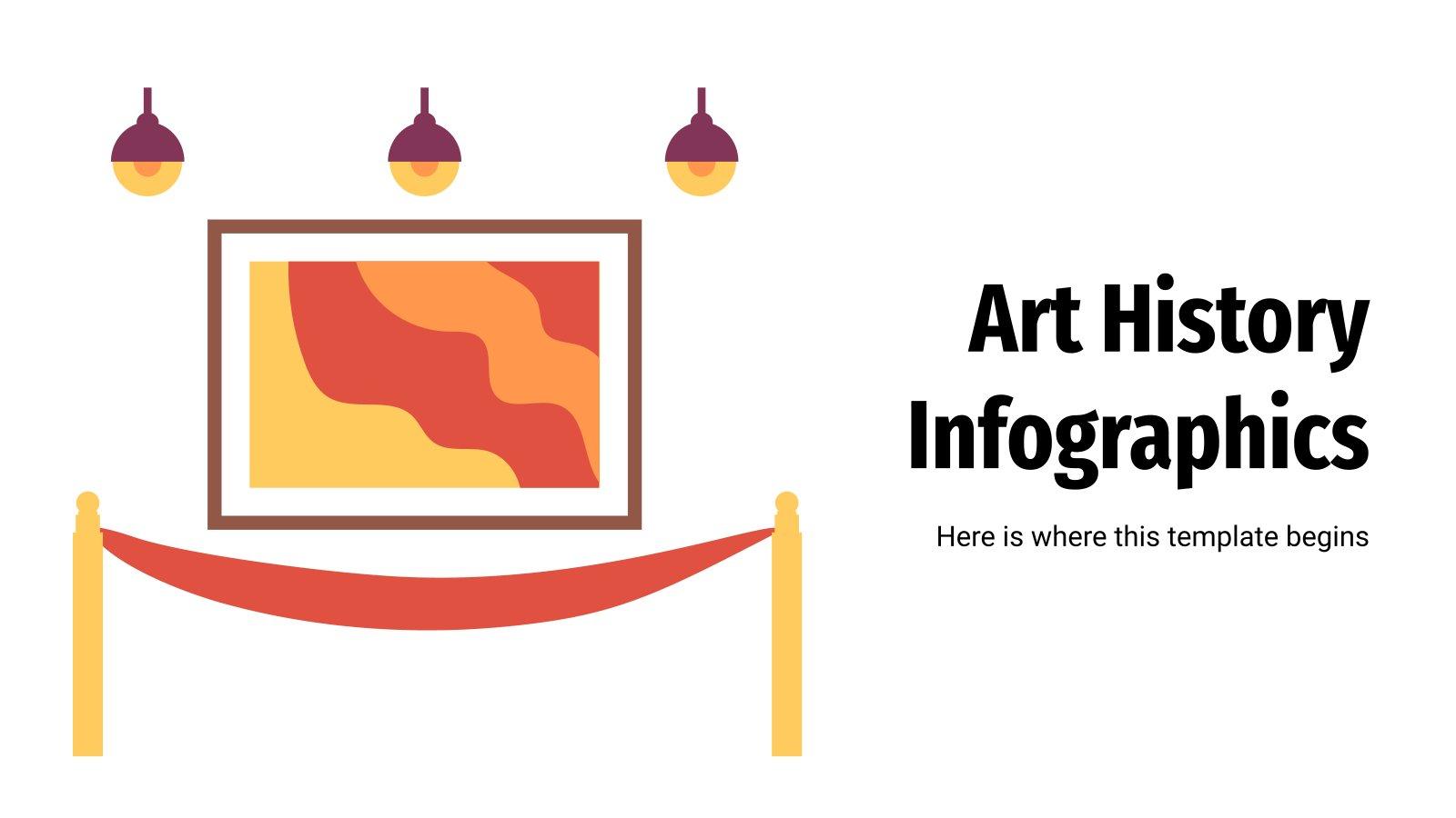 Infografiken zur Kunstgeschichte Präsentationsvorlage