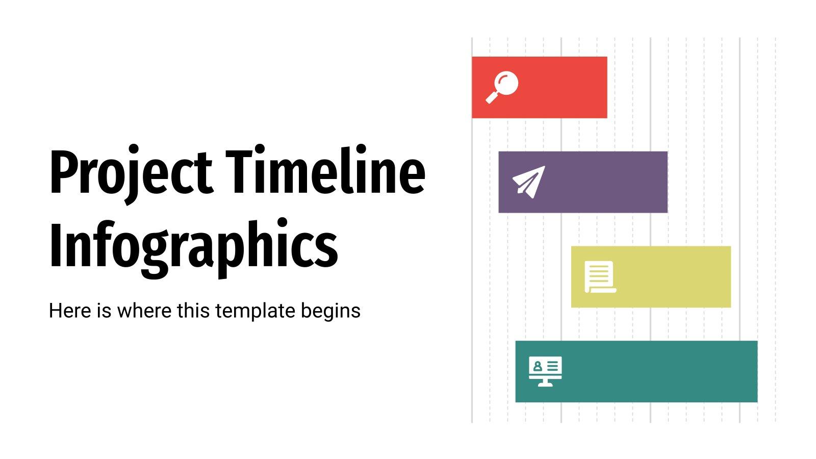 Infografiken zum Projektzeitplan Präsentationsvorlage