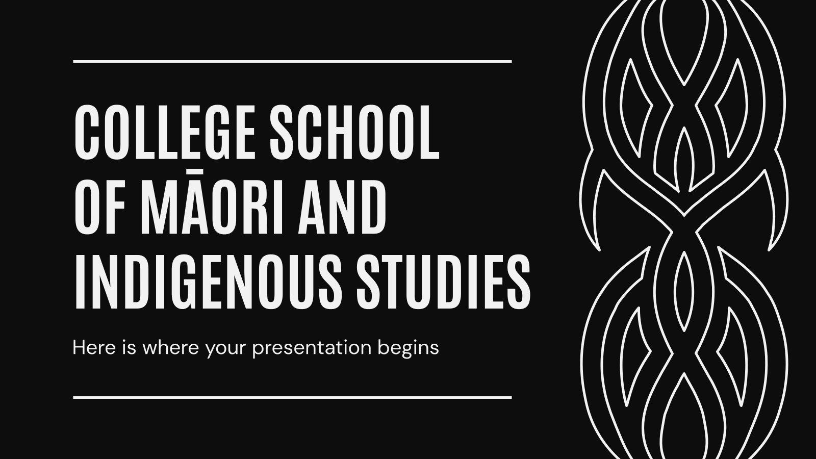 Modelo de apresentação Faculdade de estudos maoris e indígenas
