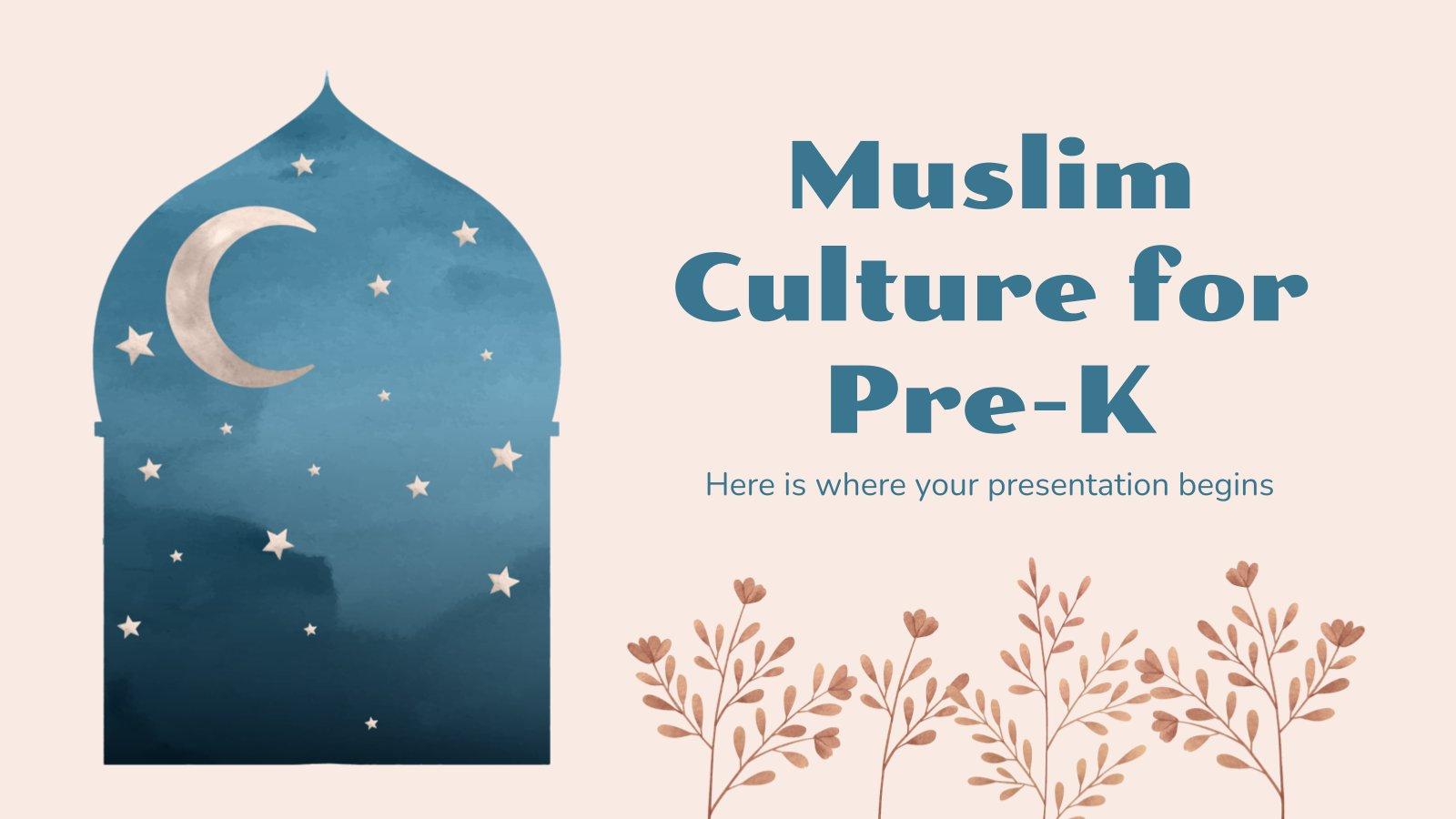 La culture musulmane pour les maternelles : Modèles de présentation