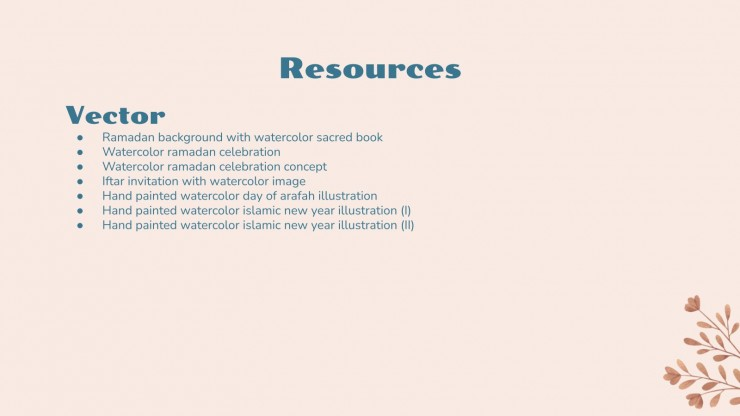 Muslim Culture for Pre-K presentation template