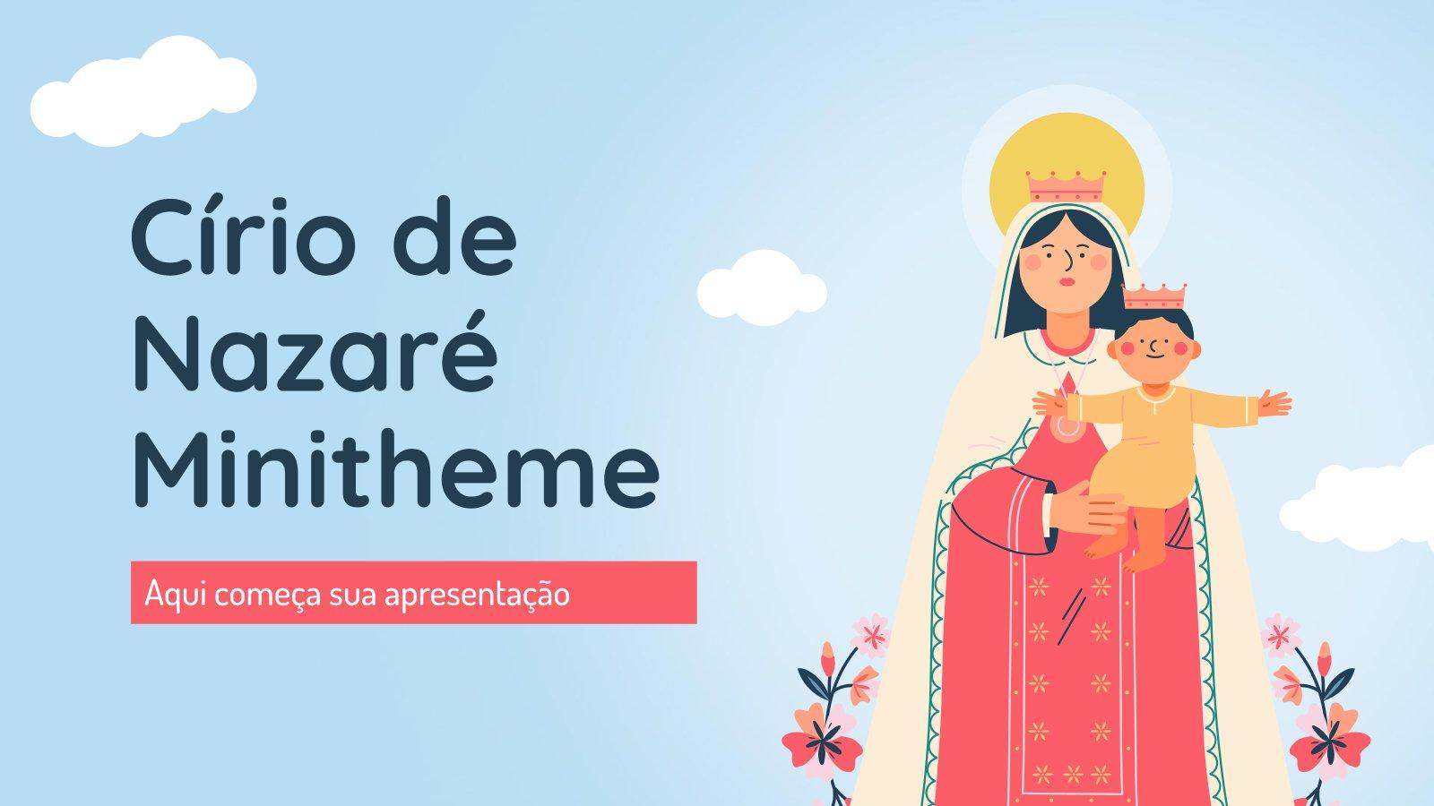 Plantilla de presentación Minitema: El cirio de Nazaré