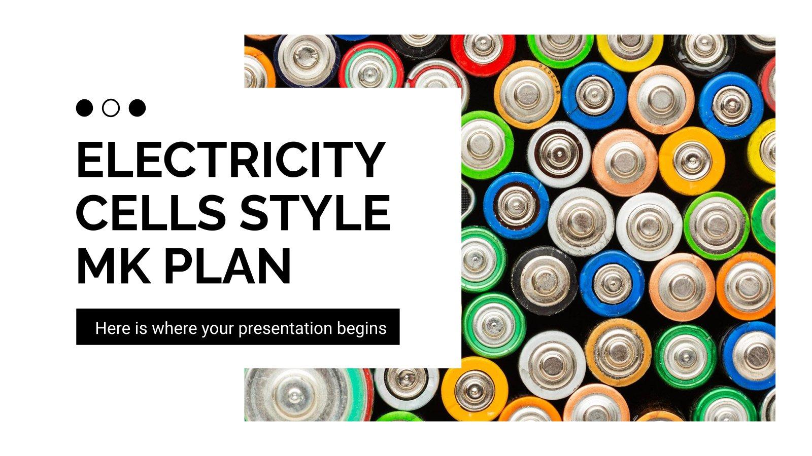 Modelo de apresentação Plano de marketing com baterias