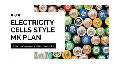 Electricity Cells Style MK Plan presentation template
