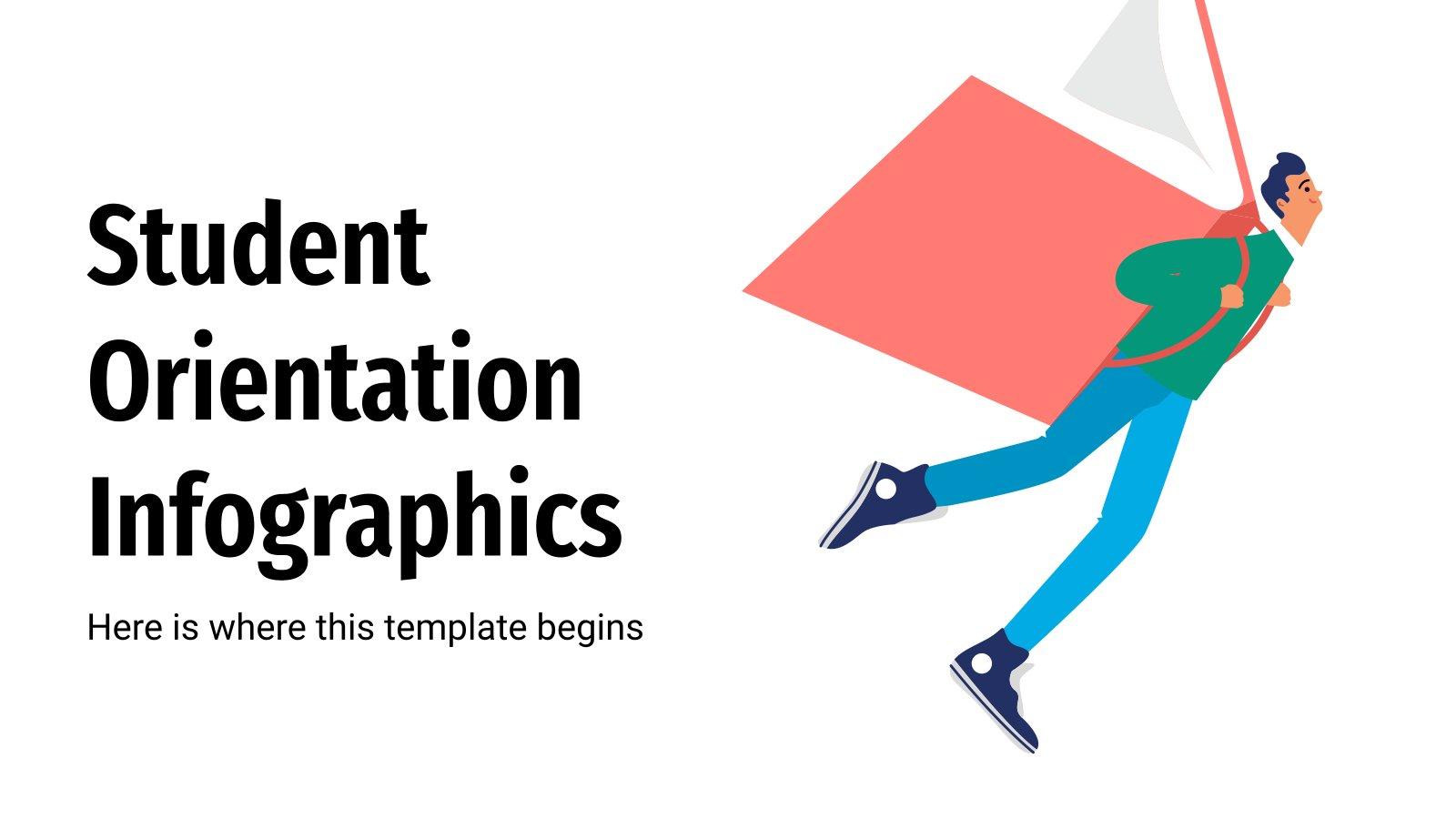 Infografiken zur Studienorientierung Präsentationsvorlage