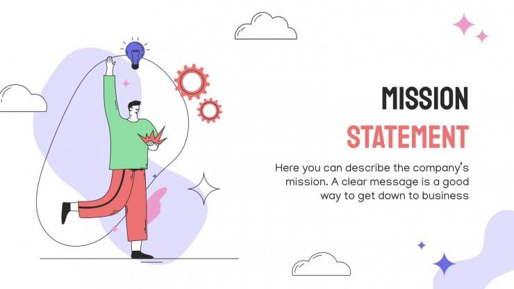 Organic Flat Characters Business Plan presentation template