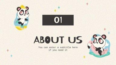 Funny Panda Agency presentation template