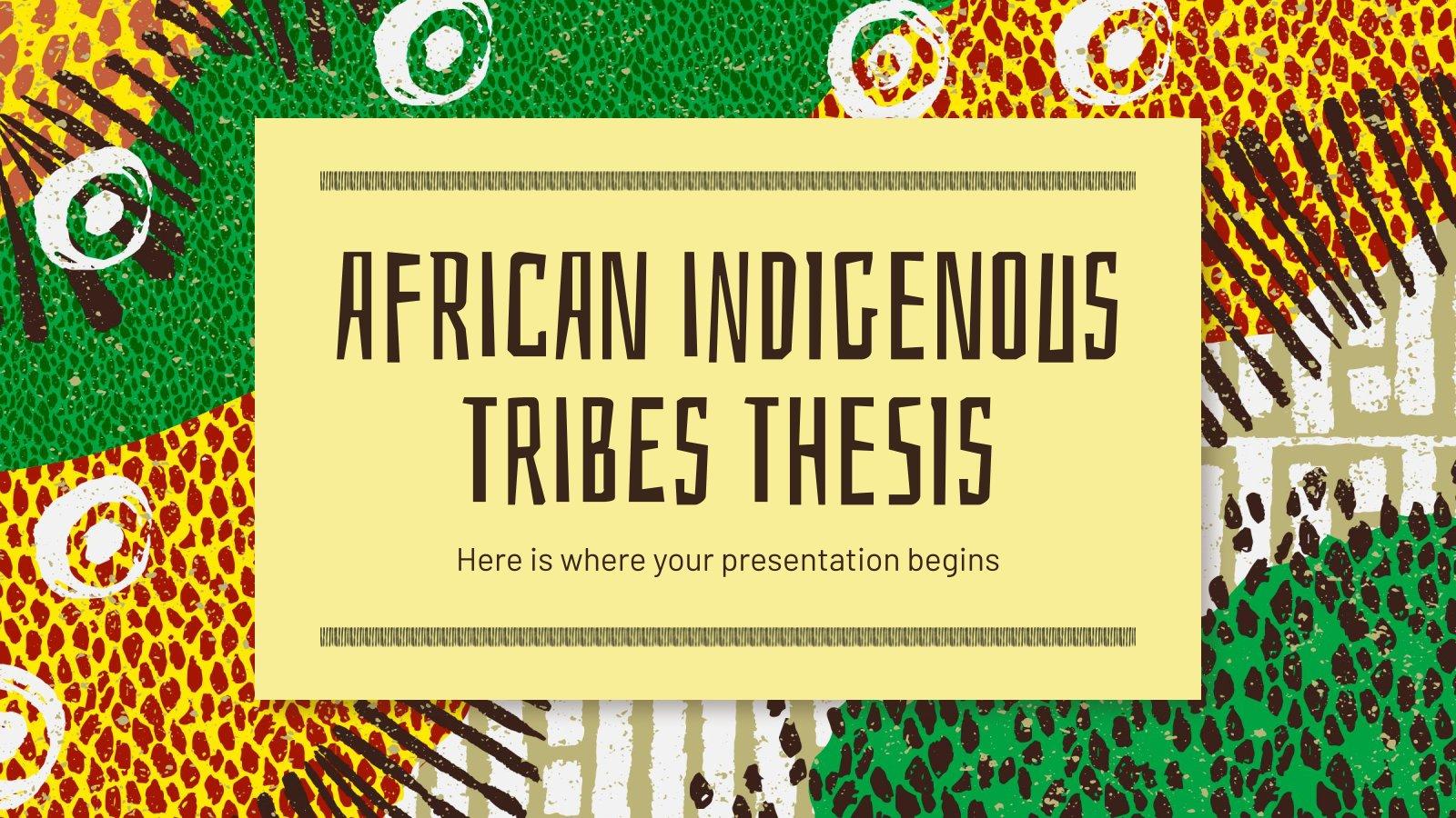 Plantilla de presentación Tesis sobre las tribus indígenas africanas