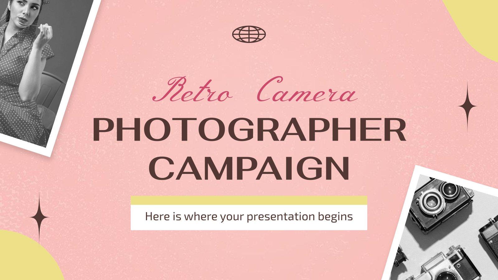 Kampagne für Retro Fotografen Präsentationsvorlage