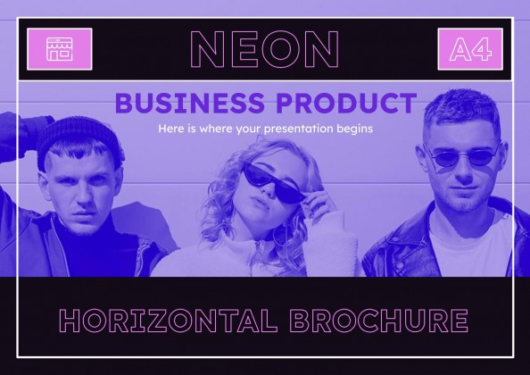 Neon Business Product Brochure presentation template
