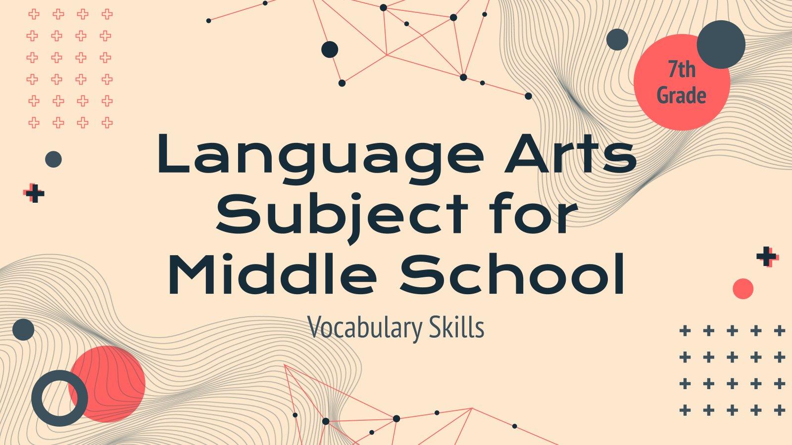 Plantilla de presentación Lengua para secundaria: Vocabulario