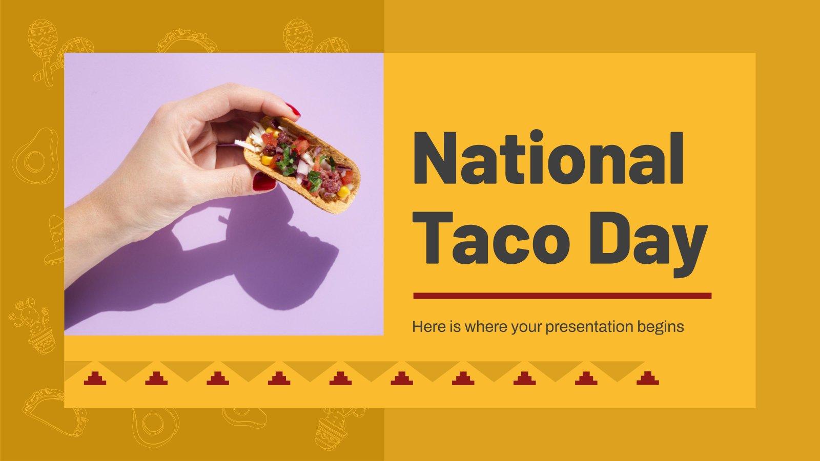 Modelo de apresentação Dia Nacional do Taco
