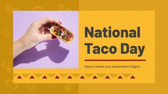 Plantilla de presentación Día nacional del taco