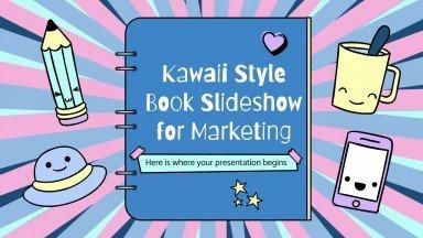 Diashow im Kawaii-Stil für Marketingzwecke Präsentationsvorlage