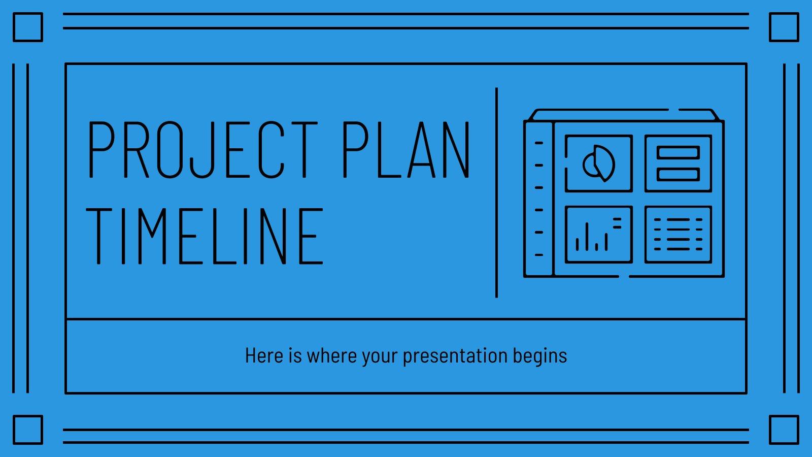 Modelo de apresentação Linha do tempo para projetos