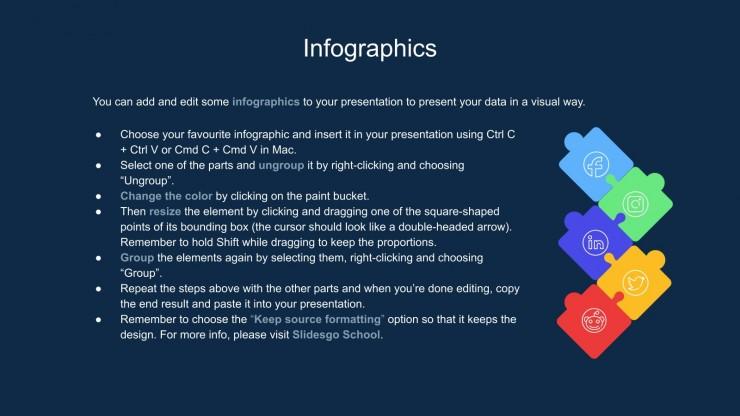 Plantilla de presentación Infografías para auditorías SEO