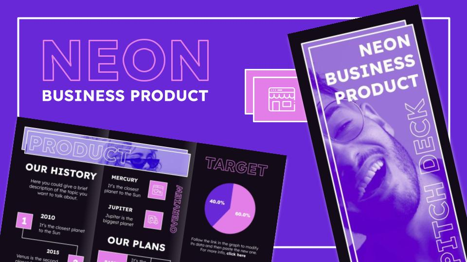Brochure de style néon : Modèles de présentation