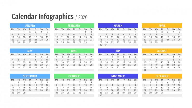 Infographies de calendriers : Modèles de présentation