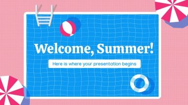 Welcome, Summer! presentation template