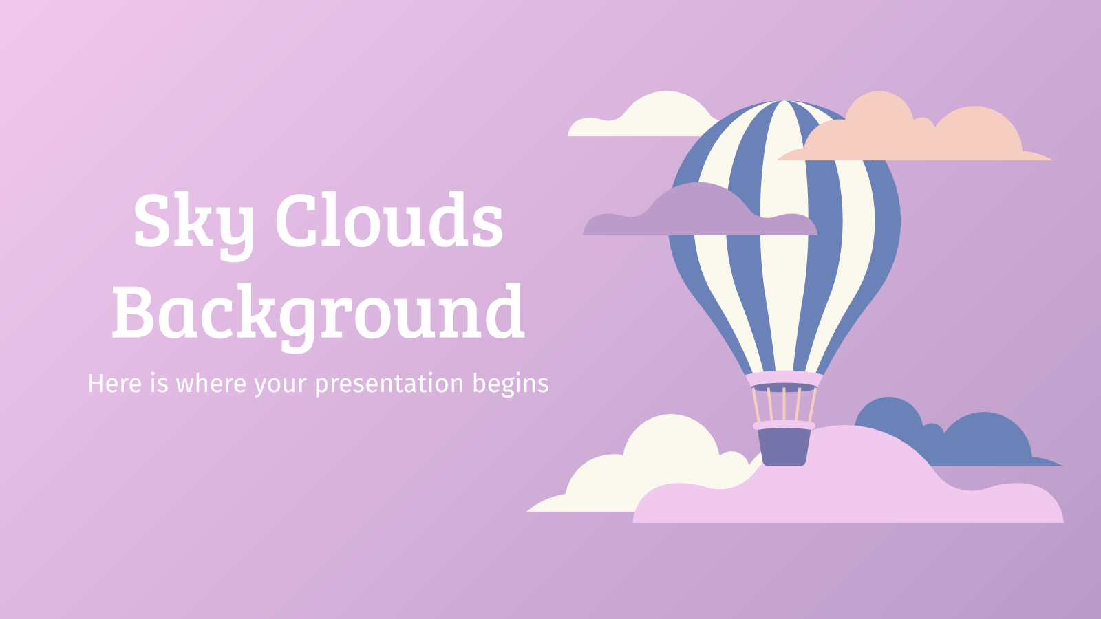 Sky Clouds presentation template