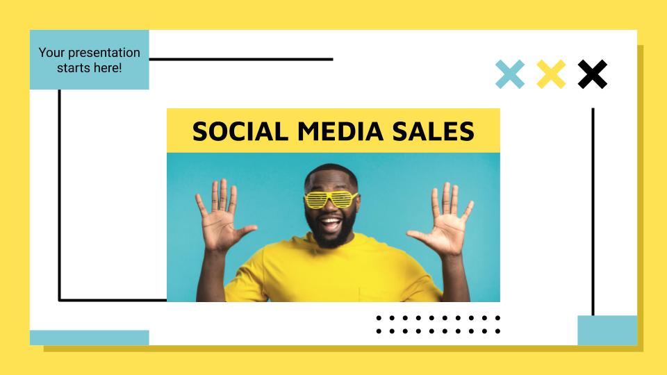 Social-Media Verkauf Präsentationsvorlage