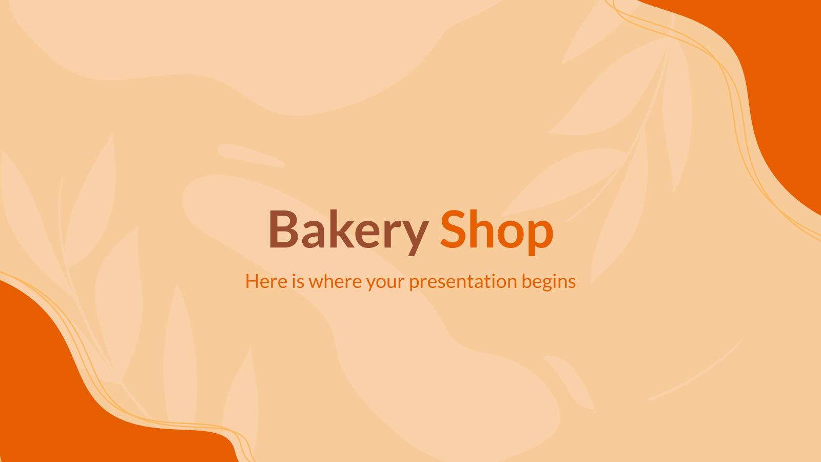 Bakery Shop presentation template