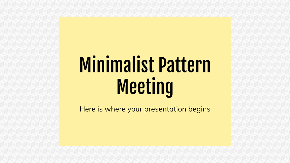 Minimalist Pattern Meeting presentation template