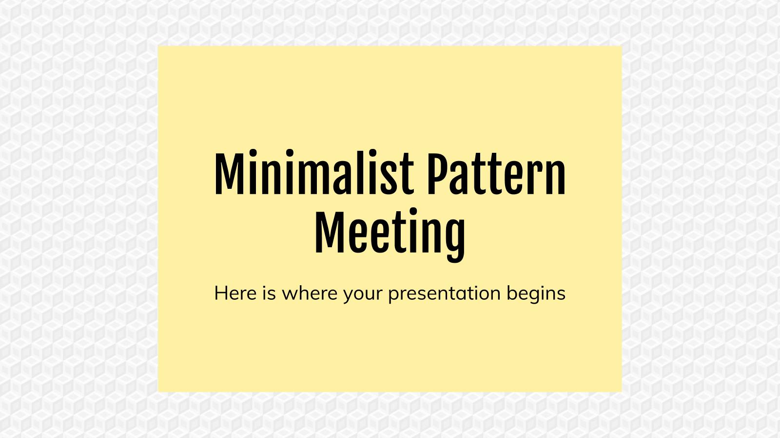 Modelo de apresentação Reunião com padrão minimalista