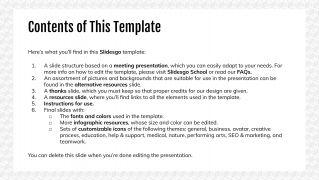 Minimalist Pattern Meeting presentation template