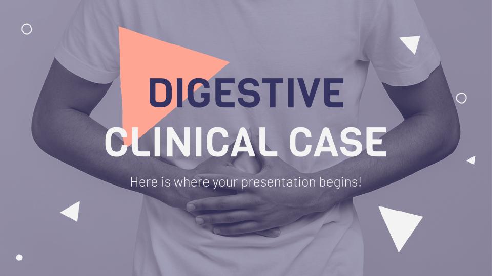 Modelo de apresentação Caso clínico sobre problemas digestivos