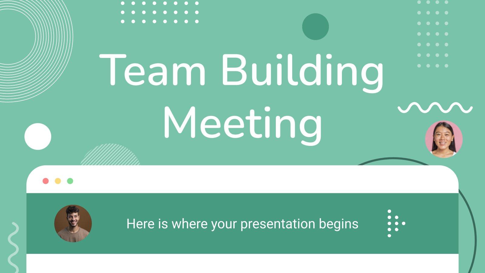 Modelo de apresentação Reunião de team building