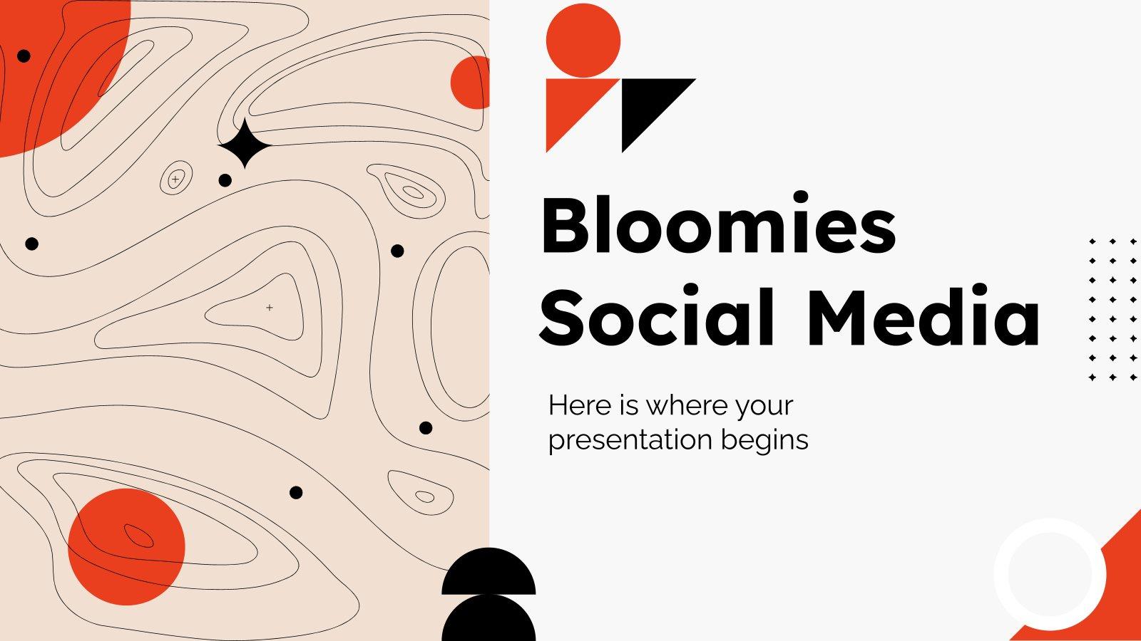 Modelo de apresentação Redes sociais Bloomies