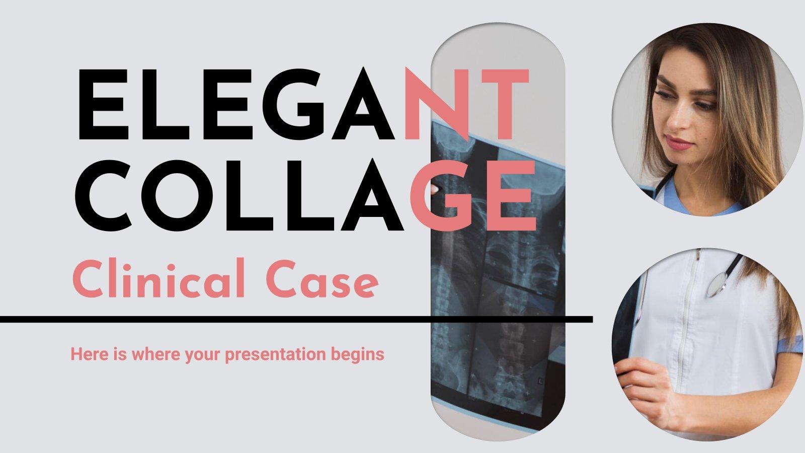 Plantilla de presentación Collage elegante para caso clínico