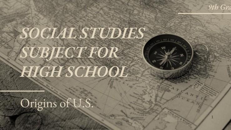 Sozialkunde für die 9. Klasse: Die Ursprünge der USA Präsentationsvorlage