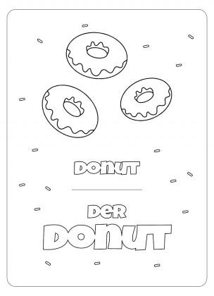 Vocabulaire allemand à colorier : Modèles de présentation