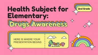 Health Subject for Elementary - 2nd Grade: Drugs Awareness presentation template