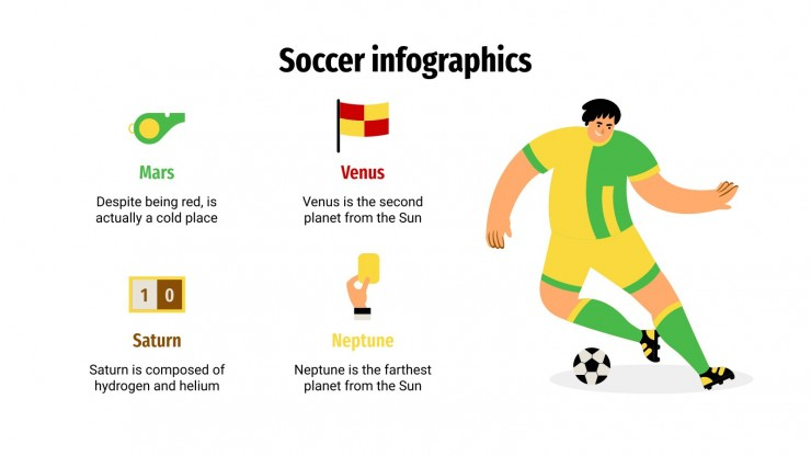 Infografiken zum Fußball Präsentationsvorlage