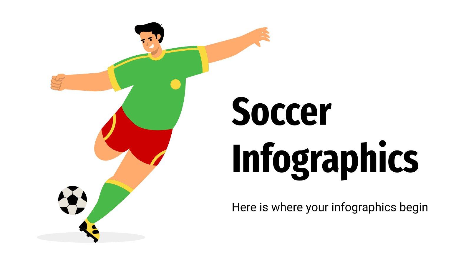 Modelo de apresentação Infográficos de futebol