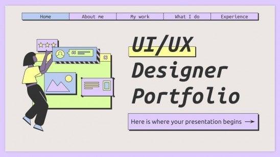 UI/UX Designer Portfolio Präsentationsvorlage