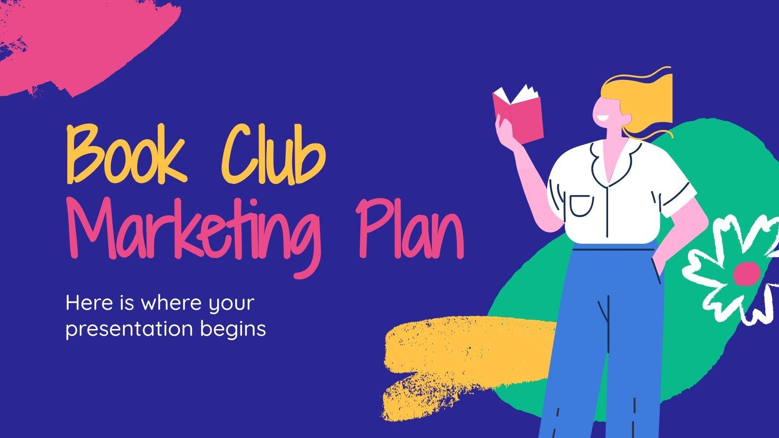 Plan de marketing de club de lecture : Modèles de présentation