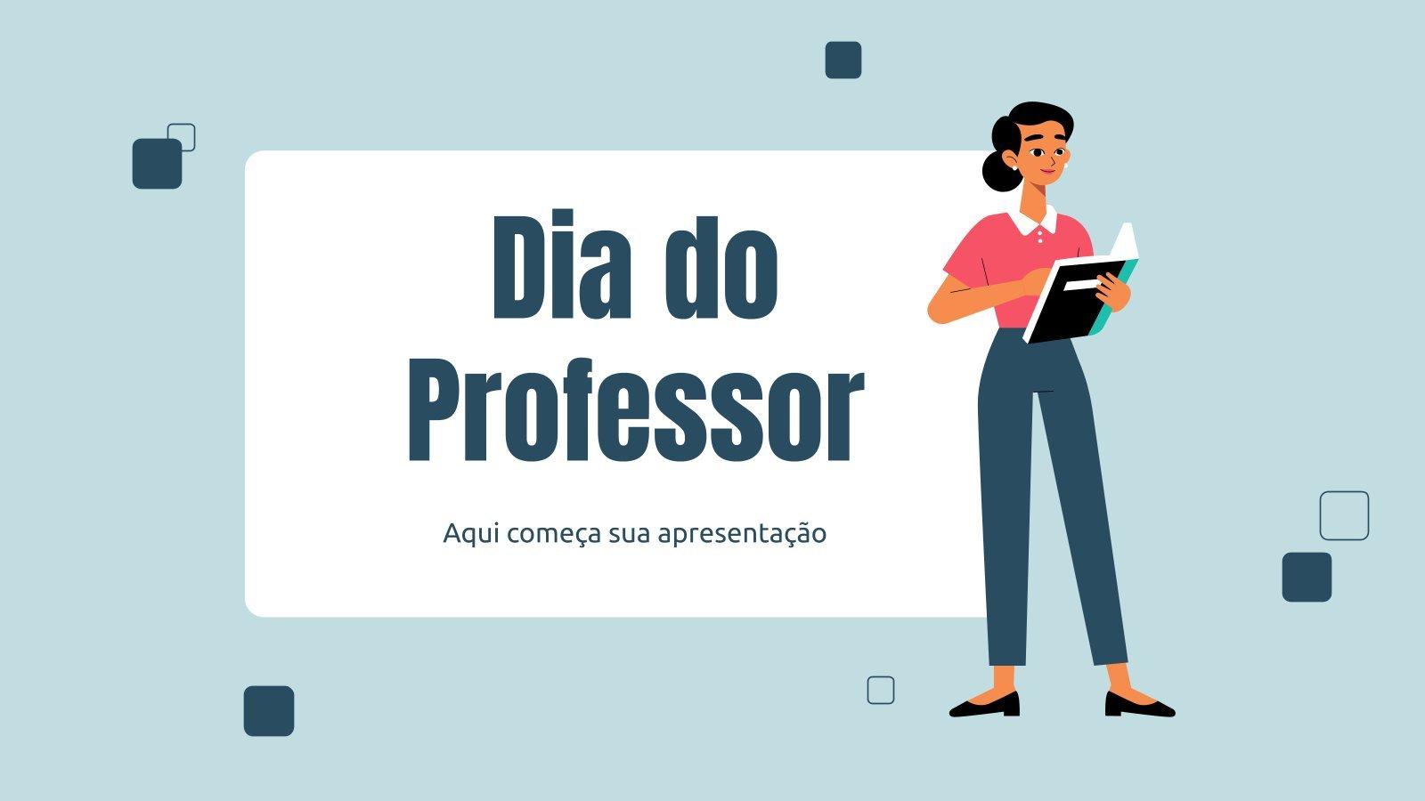 Teacher's Day in Brazil presentation template