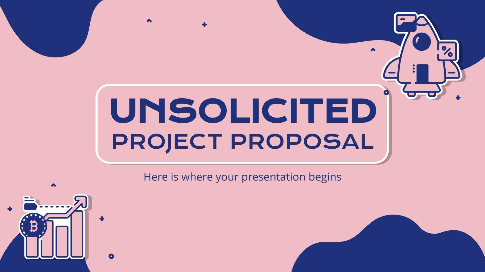 Unaufgeforderter Projektvorschlag Präsentationsvorlage