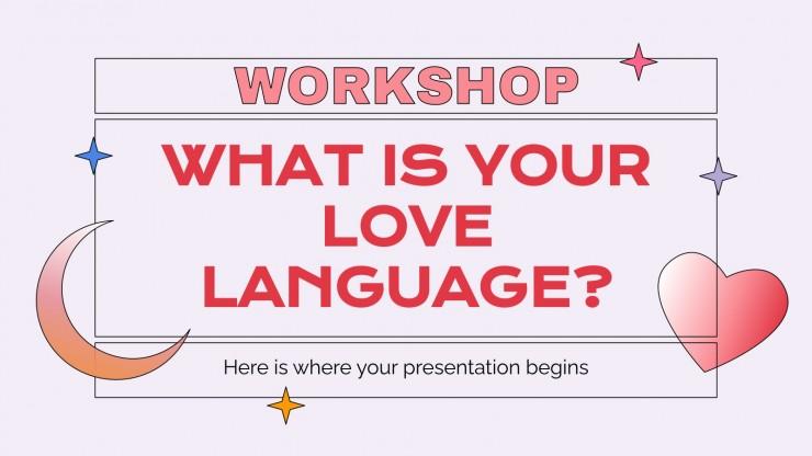 Plantilla de presentación ¿Cuál es tu lenguaje del amor?